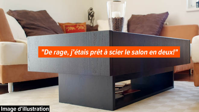 jean veut donner son salon en ch ne aux d munis mais c est aberrant je dois payer pour. Black Bedroom Furniture Sets. Home Design Ideas