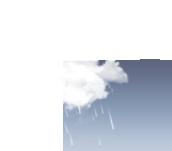 Pluie fine. Nuages dispersés. Frais.