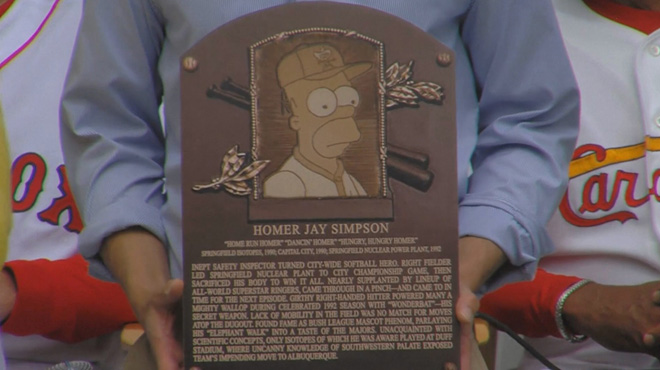 "Le ""Hall of Fame"" du baseball intronise… Homer Simpson ..."