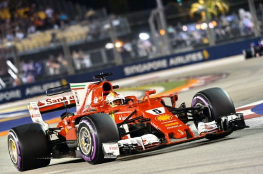 gp de singapour vettel ferrari en pole hamilton mercedes 5e des qualifications rtl sport. Black Bedroom Furniture Sets. Home Design Ideas