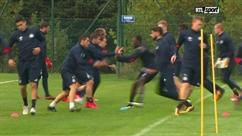 Les joeuurs d'Anderlecht s'entraînent dur en vue du choc de demain contre le PSG