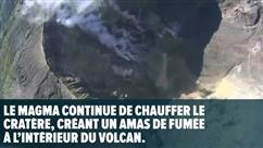 Le volcan Agung gronfde toujours: un drone a filmé son magma qui chauffe
