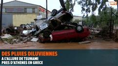 Un mini tsunami près d'Athènes en Grèce fait au moins 15 morts