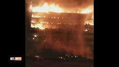 Un incendie spectaculaire a ravagé l'Assemblée nationale du Cameroun