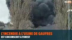 L'incendie à l'usine de gaufres Milcamps est circonscrit