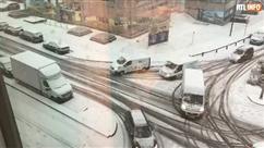 Neige: circulation compliquée à Bruxelles