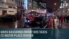 Des dizaines de taxis rassemblés à Bruxelles pour protester contre Uber