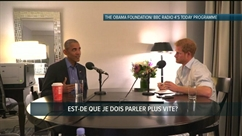 Le Prince Harry et Barack Obama se font des blagues lors d'une interview