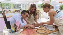 """Hélène Ségara panique en faisant une tarte dans le meilleur pâtissier: """"M****, elle n'est pas assez cuite"""""""