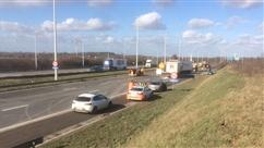 Dramatique accident entre 3 camions et 3 autres véhicules sur la E42 à Grâce-Hollogne