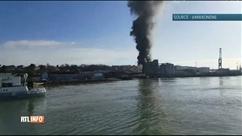 Explosion et incendie dans une usine de Dieppe