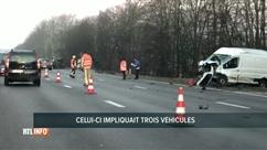 L'E40 fermée ce matin suite à un accident