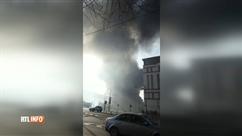 Epaisse fumée noire à Bruxelles