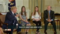 """Trump pour le port d'armes: """"S'il avait eu une arme à feu, il n'aurait pas eu à courir"""""""