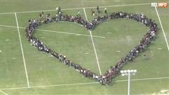 Des centaines d'étudiants américains forment un cœur géant contre les armes à feu