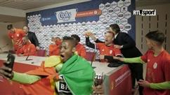 Les joueurs du Standard deviennent complètement fous durant la conférence de presse après leur victoire (vidéo)