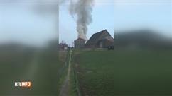 Deux maisons en feu à Lillois à proximité d'une école maternelle: les élèves ont été évacués