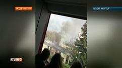 Atelier de peinture en feu à l'EFP d'Uccle: l'école évacuée