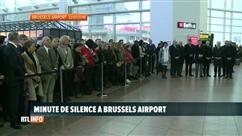 Minute de silence en hommage aux victimes de l'attentat de Brussels Airport