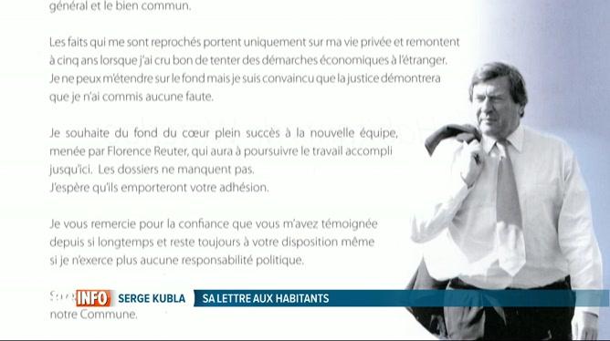 Lettre De Serge Kubla Aux Habitants De Waterloo Pour Plaider Son Innocence