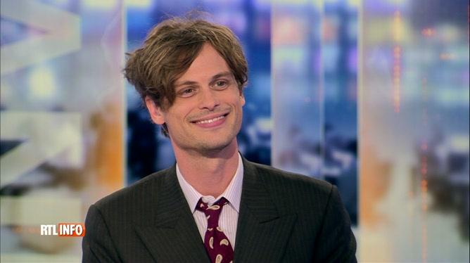 Matthew Gray Gubler est l'invité du RTL Info 19H