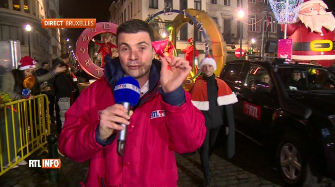En direct de Bruxelles, Michael Miraglia commente la Parade de Noël RTL