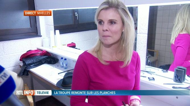 Amélie Schildt est en direct de Nivelles pour la première de la pièce du Télévie,