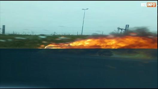 Une voiture en feu sur l 39 e40 hauteur d 39 h l cine for Hauteur d une voiture