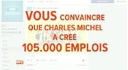 Sur Facebook, le MR affirme que Charles Michel a créé 105.000 emplois: