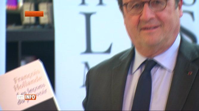 François Hollande à Bruxelles pour présenter son livre qui cartonne