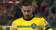 Football:  Belgique - Russie (3-1) grâce à un grand Eden Hazard