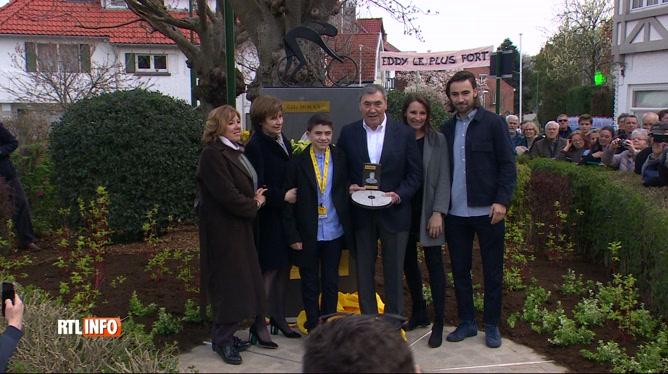 Inauguration du square Eddy Merckx à Woluwé-Saint-Pierre