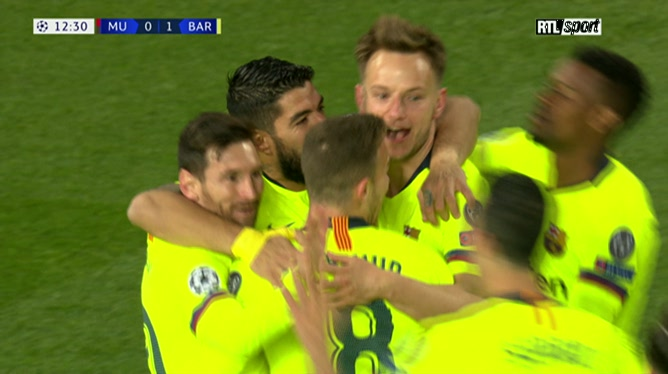 Manchester United 0 - 1 FC Barcelone