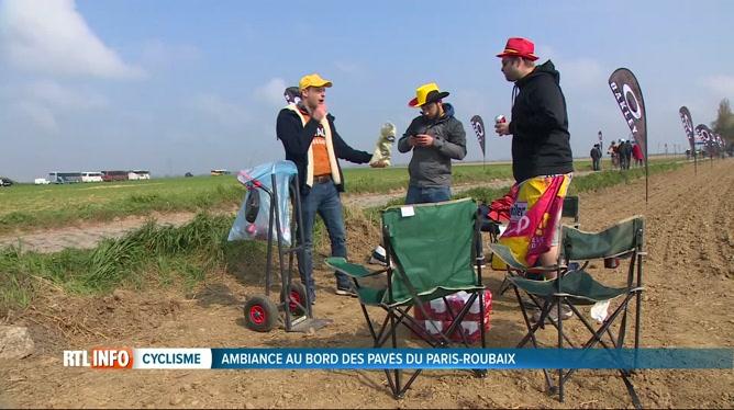 Les fans se pressent sur le parcours du mythique Paris-Roubaix