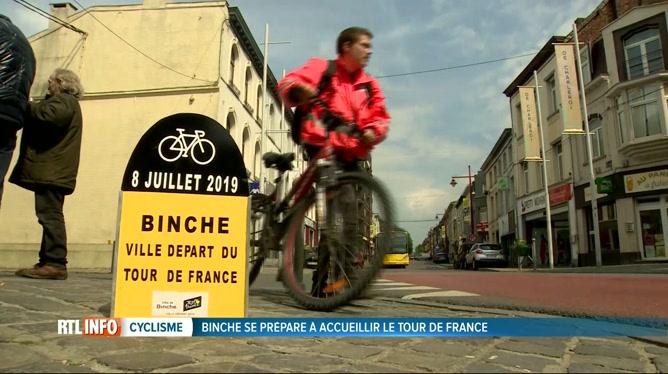 Binche se prépare au départ d'une étape du Tour de France