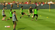 Football: reprise des entraînements des Diables rouges à Tubize