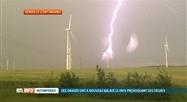 Les éoliennes de Senzeille foudroyées pendant les orages