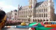 Tour de France: la Grand'Place vue depuis la caravane publicitaire