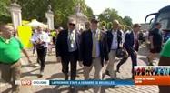 Tour de France: Eddy Merckx et personnalités au village départ