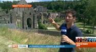 Tour de France: ambiance à l'abbaye de Villers-la-Ville