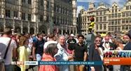 Tour de France: ambiance de fête à Bruxelles pour le grand départ