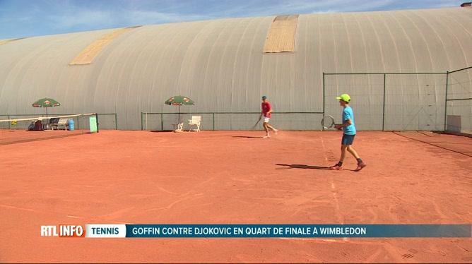 Grosse ambiance à Barchon avant le match Djokovic-Goffin à Wimbledon