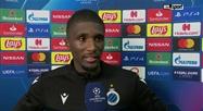Réaction de Clinton Mata après FC Bruges - LASK en Ligue des champions