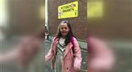 Rebecca contente de rentrer à l'école à Boitsfort
