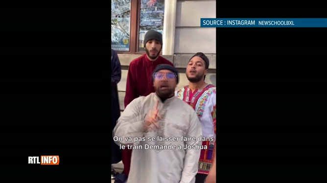 Un groupe de rap bruxellois proteste contre le racisme en tournant un clip devant le Vlaams Belang