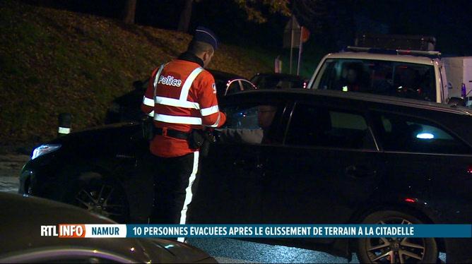 Pas de victime suite au glissement de terrain à la Citadelle de Namur