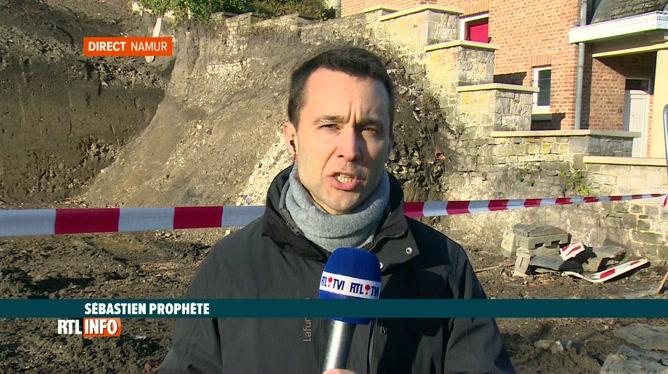 Glissement de terrain à Namur: une réunion prévue cet après-midi
