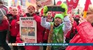 Manifestation des aides-ménagères du secteur des titres-services