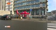 Blocage de l'entrepôt Proximus à Liège ainsi que de plusieurs shops