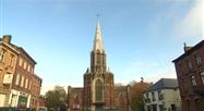 Lodelinsart : Début du démontage de l'église